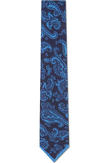 YVES SAINT LAURENT Paisley silk tie