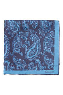 YVES SAINT LAURENT Paisley silk pocket square