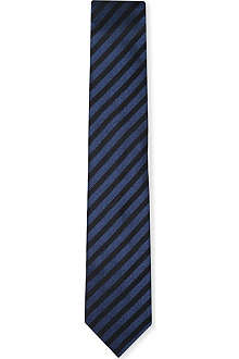 YVES SAINT LAURENT Satin stripe tie