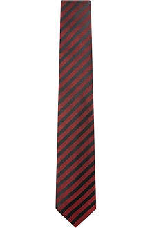 YVES SAINT LAURENT Striped silk tie