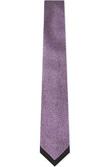 YVES SAINT LAURENT Contrast edge speckled tie
