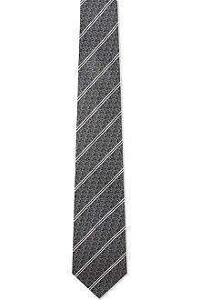 YVES SAINT LAURENT Striped logo tie