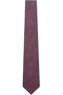 YVES SAINT LAURENT Caviar dots silk tie