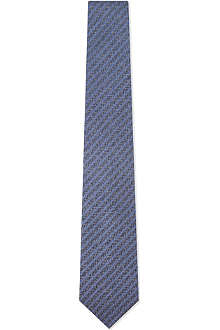 YVES SAINT LAURENT Graphic scratches silk tie