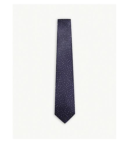 LANVIN Degrade constellation silk tie (Purple