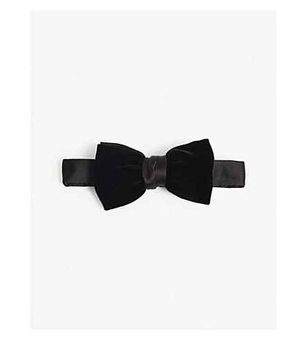 LANVIN Velvet bow tie (Black