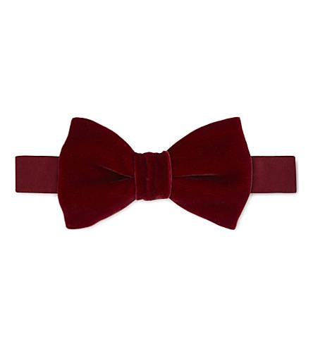 LANVIN Velvet bow tie (Burgundy