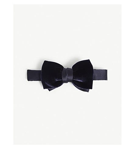 LANVIN Velvet bow tie (Navy