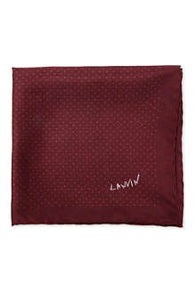 LANVIN Pin dot silk pocket square