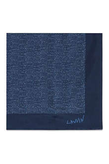 LANVIN Micro dot mosaic silk pocket square