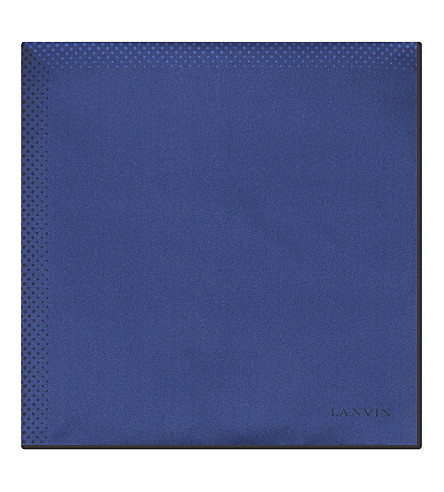 LANVIN Degrade spotted pocket square (Blue