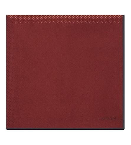 LANVIN Degrade spotted pocket square (Red