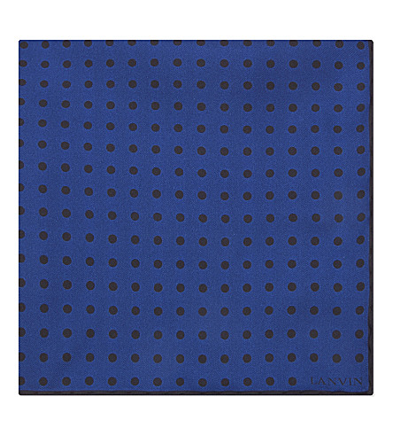 LANVIN Degradé spotted silk tie (Blues