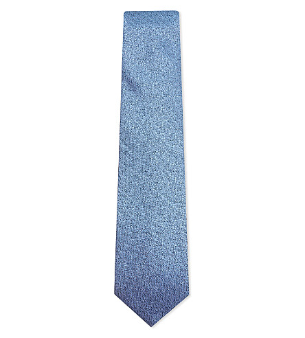 LANVIN Textured silk tie (Blue