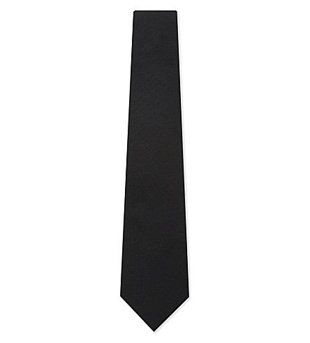 LANVIN Textured silk tie (Black