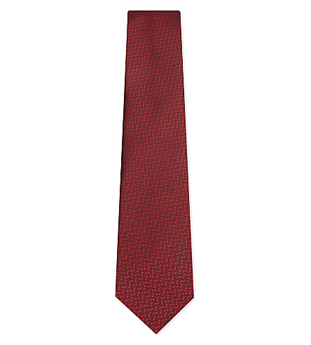 LANVIN Dashed silk tie (Red