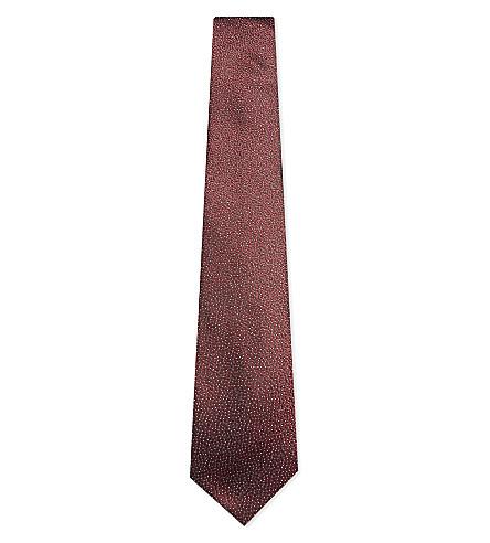 LANVIN Spot print silk tie (Burgundy