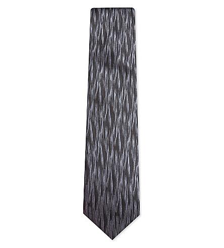 LANVIN Slash textured silk tie (Black