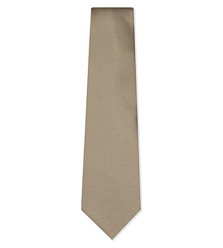 LANVIN Metallic silk tie (Gold