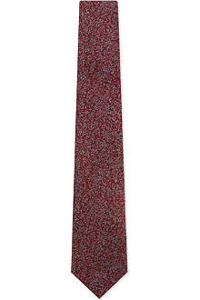 LANVIN Pebble dash silk tie