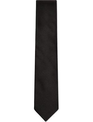 LANVIN Plain satin tie