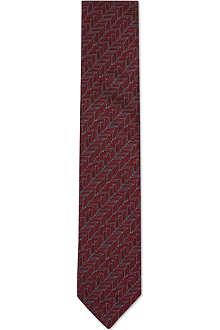 LANVIN Mini chevrons silk tie