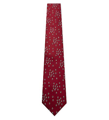 LANVIN Dot-spot silk tie (Red