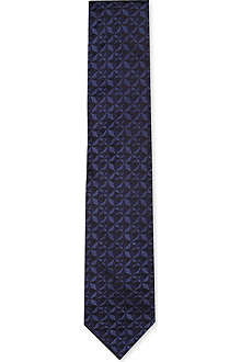 LANVIN Diamond silk tie