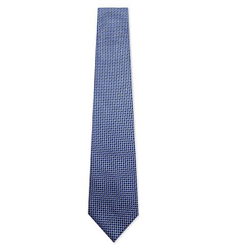 LANVIN Two dot print silk tie (Blue