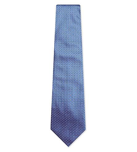 LANVIN Spot print silk tie (Blue
