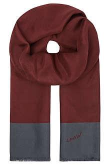 LANVIN Silk bicolour scarf