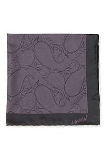 LANVIN Paisley silk pocket square
