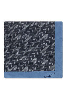 LANVIN Chevron silk pocket square