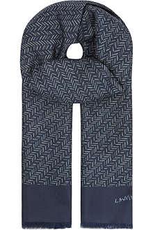 LANVIN Chevrons silk scarf