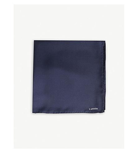 LANVIN 丝绸装饰方巾 (海军