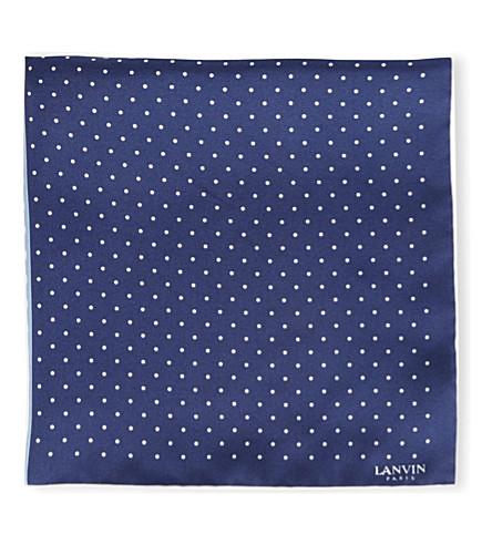 LANVIN Polka dot pocket square (4+colours/+blue