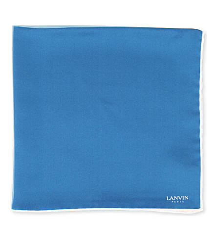LANVIN Colour-block pocket square (4+colours/+blue