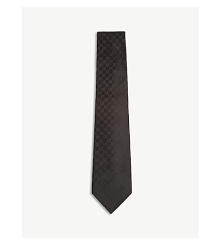 GUCCI Logo silk tie (Black