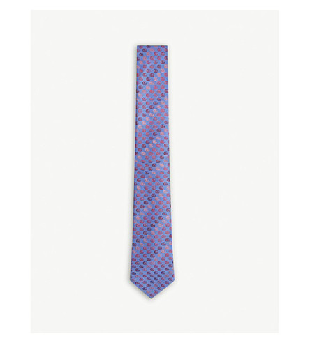 GUCCI 'GG' silk tie (Perwinkle/pink