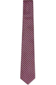 GUCCI Woven stripe tie