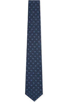 GUCCI Circle silk tie