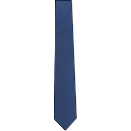 PAUL SMITH Plain silk tie (Blue