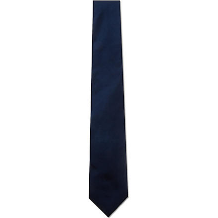 PAUL SMITH Plain silk tie (Navy