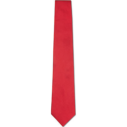 PAUL SMITH Plain silk tie (Red