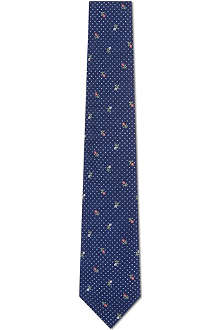 PAUL SMITH Floral pin dot silk tie