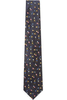 PAUL SMITH Cherry blossom silk tie