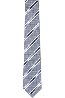PAUL SMITH Diagonal striped silk tie
