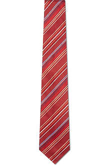 PAUL SMITH Bright striped neon silk tie
