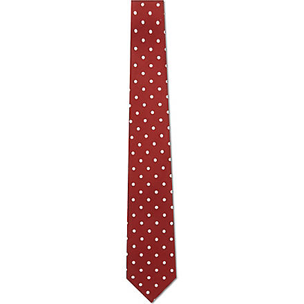 PAUL SMITH Polka dot silk tie (Red