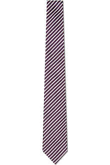 PAUL SMITH Skinny diagonal bar striped tie